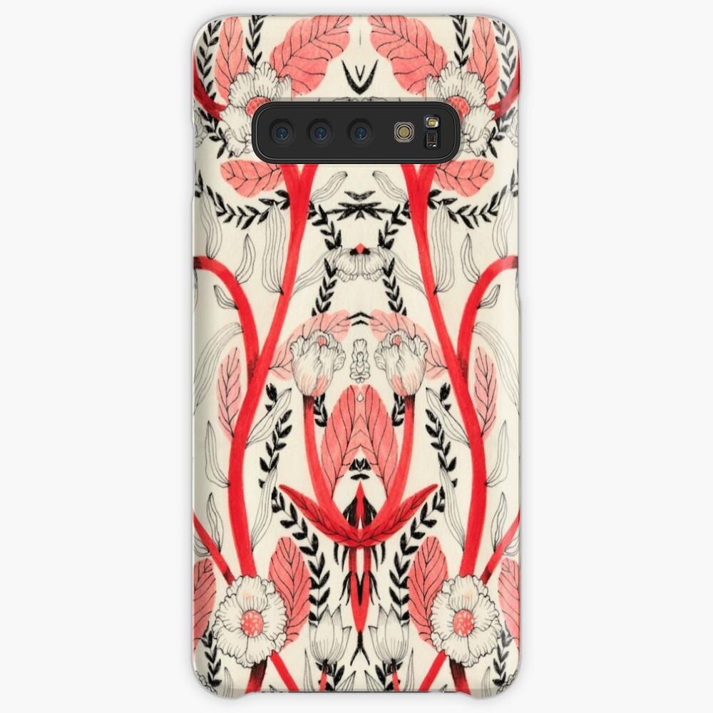 Red flower pattern_ Case & Skin for Samsung Galaxy