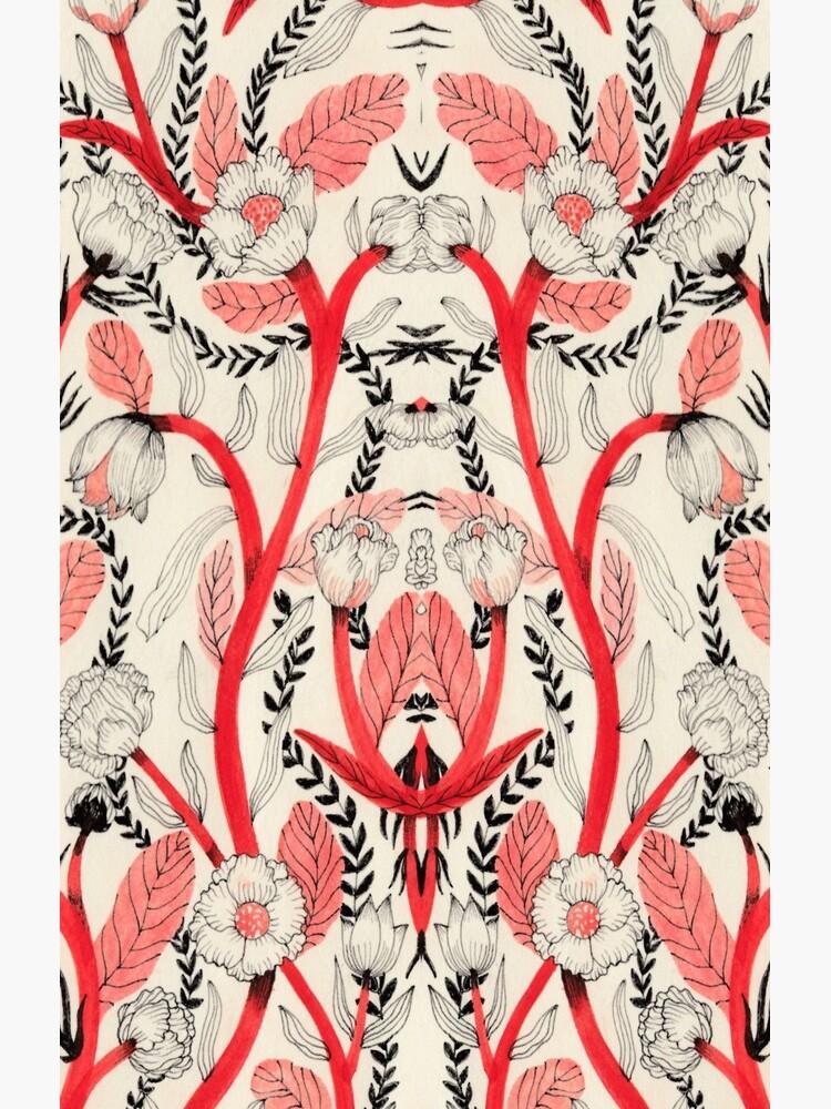 Red flower pattern_ by spoto