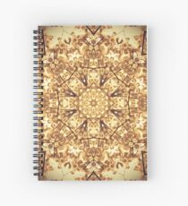Gold Rush Mandala - Golden Ornate Art Deco Design Spiral Notebook