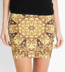 Gold Rush Mandala - Golden Ornate Art Deco Design Mini Skirt