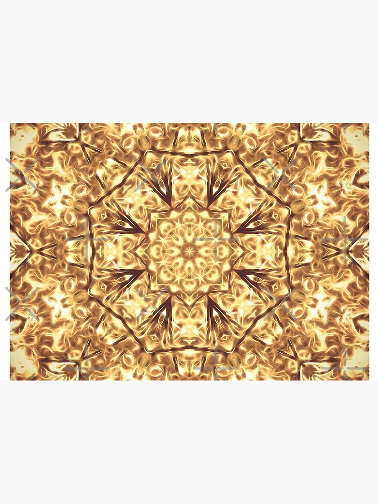 Gold Rush Mandala - Golden Ornate Art Deco Design by OneDayArt