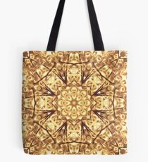 Gold Rush Mandala - Golden Ornate Art Deco Design Tote Bag