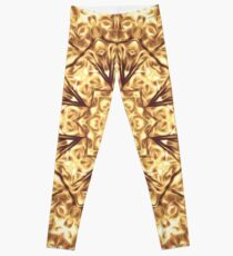Gold Rush Mandala - Golden Ornate Art Deco Design Leggings