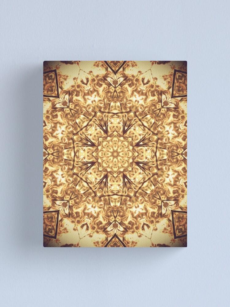 Alternate view of Gold Rush Mandala - Golden Ornate Art Deco Design Canvas Print