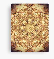 Gold Rush Mandala - Golden Ornate Art Deco Design Canvas Print
