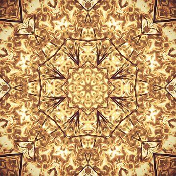 Gold Rush Mandala - Golden Ornate Art Deco Design by OneDayArt