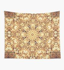 Gold Rush Mandala - Golden Ornate Art Deco Design Wall Tapestry