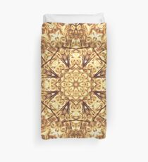 Gold Rush Mandala - Golden Ornate Art Deco Design Duvet Cover