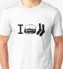 I Burger Socks Unisex T-Shirt