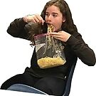 Shamefully eating spaghetti from a bag by comfy-core