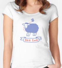 Bee Ewe Fitted Scoop T-Shirt