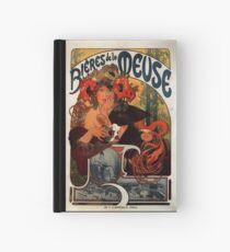 """""""Bieres de la Meuse"""" von Alphonse Mucha (Reproduktion) Notizbuch"""