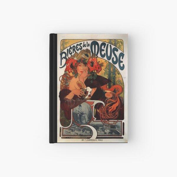 'Bieres de la Meuse' by Alphonse Mucha (Reproduction) Hardcover Journal