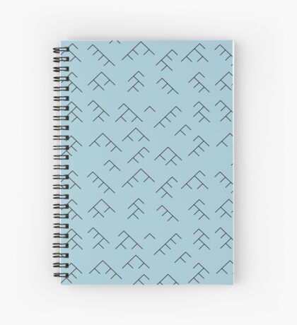 Tree diagram notebook - light blue and black Spiral Notebook