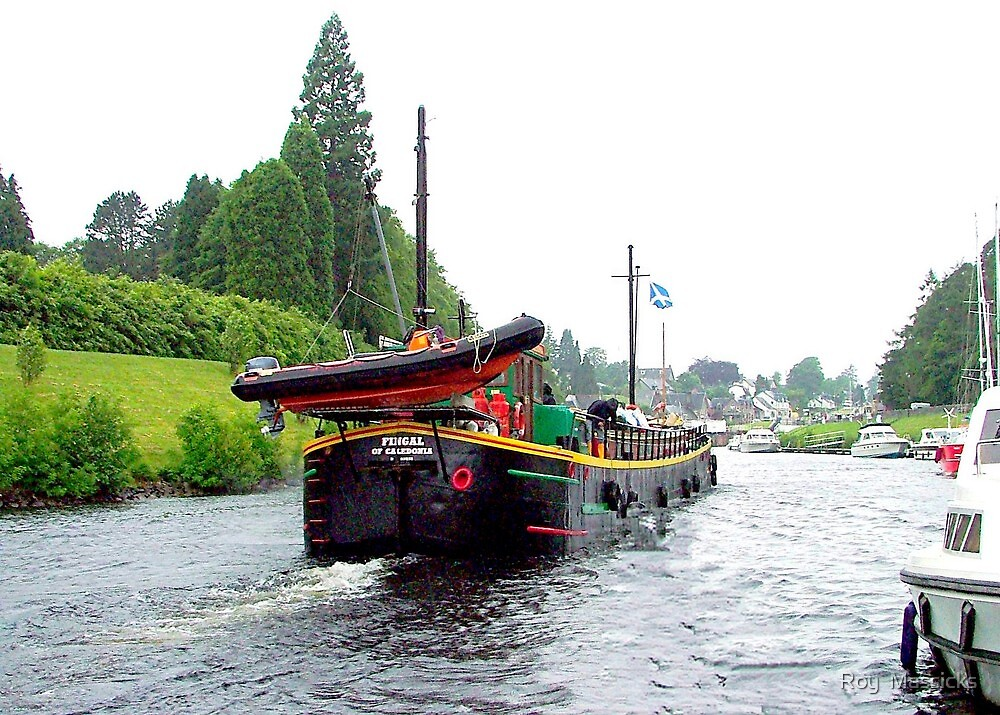 """Barge """"Fingal"""" Fort Augustus, Loch Ness, Scotland. by Roy  Massicks"""