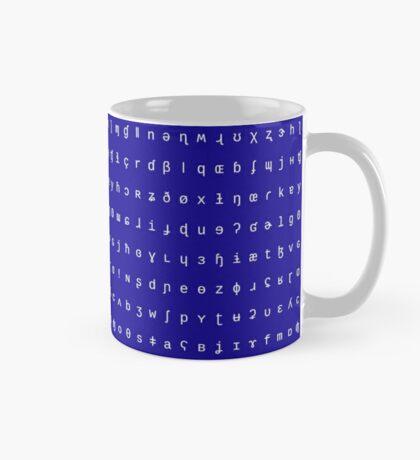 IPA mug - royal blue and white Mug