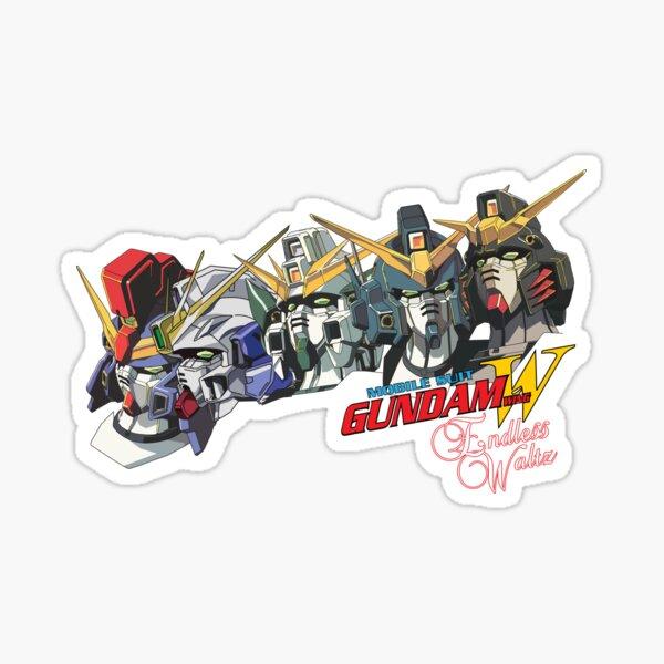 Gundam Wing Endless Waltz All five Sticker