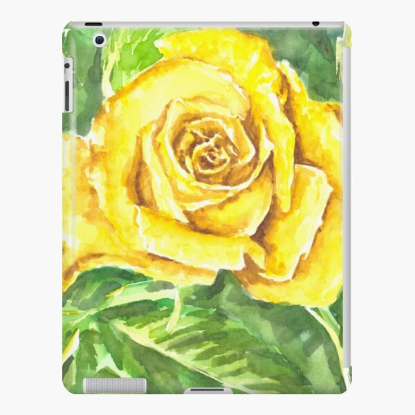 Yellow Rose Watercolor Painting iPad Snap Case