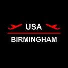 Birmingham Alabama USA Airport Plane Dark Color by TinyStarAmerica