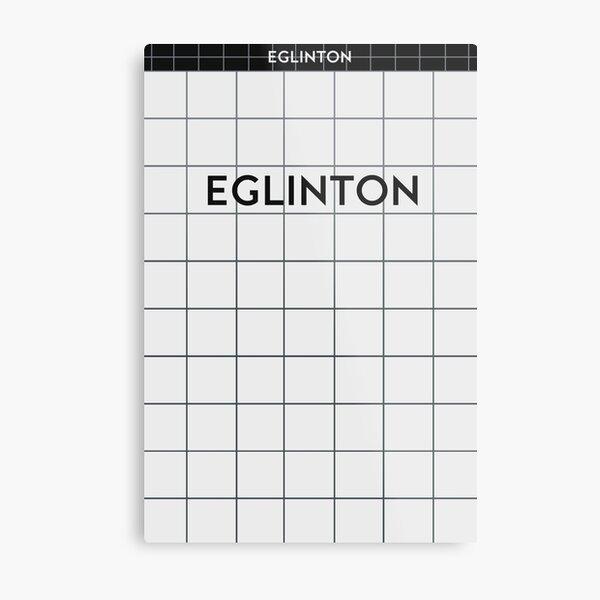EGLINTON Subway Station Metal Print