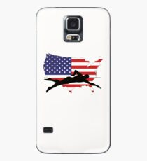 Swimming American USA Flag Hülle & Skin für Samsung Galaxy