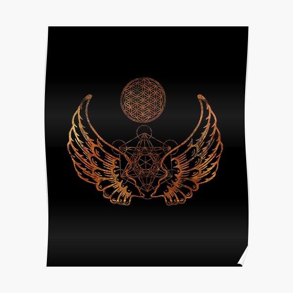 Angel Wings Metatron Flower of Life Poster