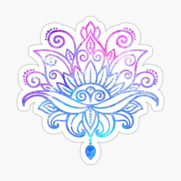WaterColor Lotus Flower Sticker