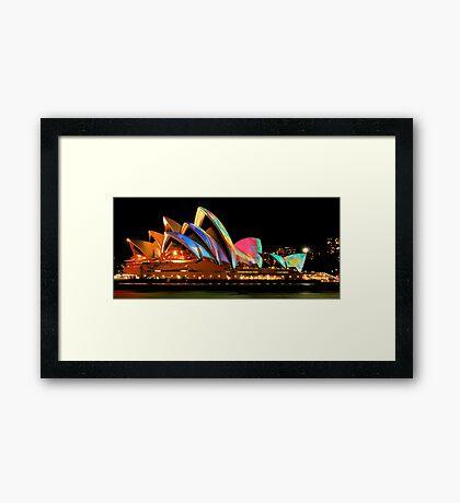 Vivid Sydney #4 - Sydney Opera House - The HDR Experience Framed Print