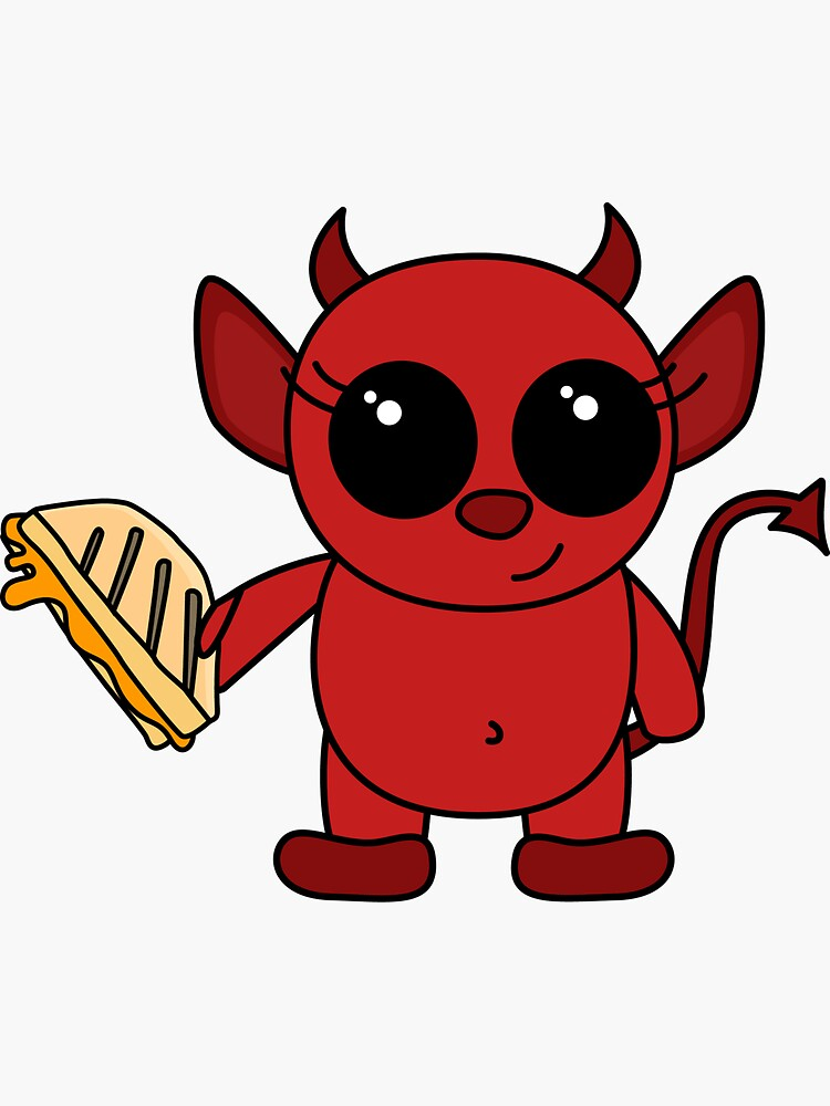 cute devil has a sammich by shortstack