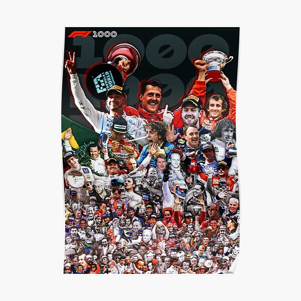 F1's 1000th: Every Grand Prix Winner Poster