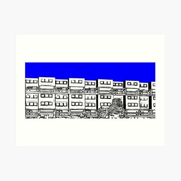 Ashfield Valley Flats, Rochdale Art Print