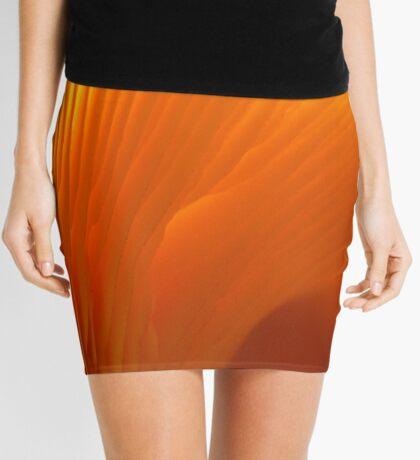 Flame-colored Lamellae Mini Skirt