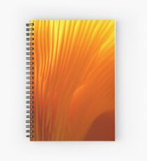 Flame-colored Lamellae Spiral Notebook