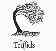 Triffids tree and logo in black - tree by Martyn P Casey