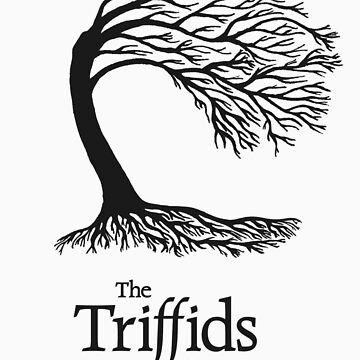 Triffids tree and logo in black - tree by Martyn P Casey by grambram