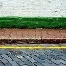 Road, Line, Kerb, Path, Step, Wall by richman
