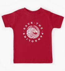 Gefährdetes Tier - Rette den Pangolin Kinder T-Shirt