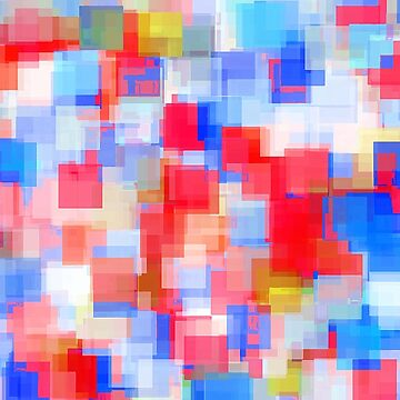 geometric square pattern abstract background in red and blue by Mrvell