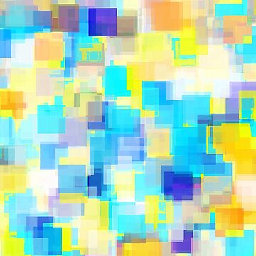 geometric square pattern abstract background in yellow and blue by Mrvell