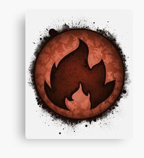 The Fire Types Canvas Print