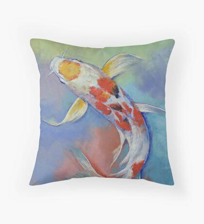 Butterfly Koi Fish Throw Pillow