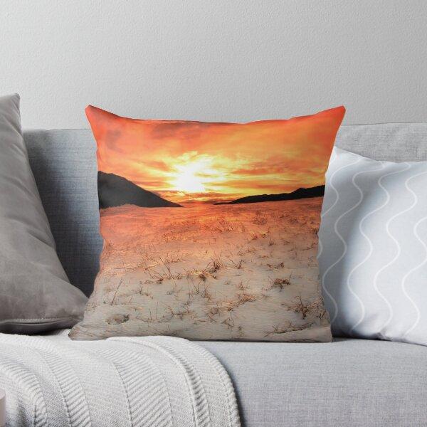 Snow Sunrise Throw Pillow