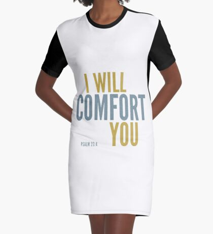I will comfort you - Psalm 23 Graphic T-Shirt Dress