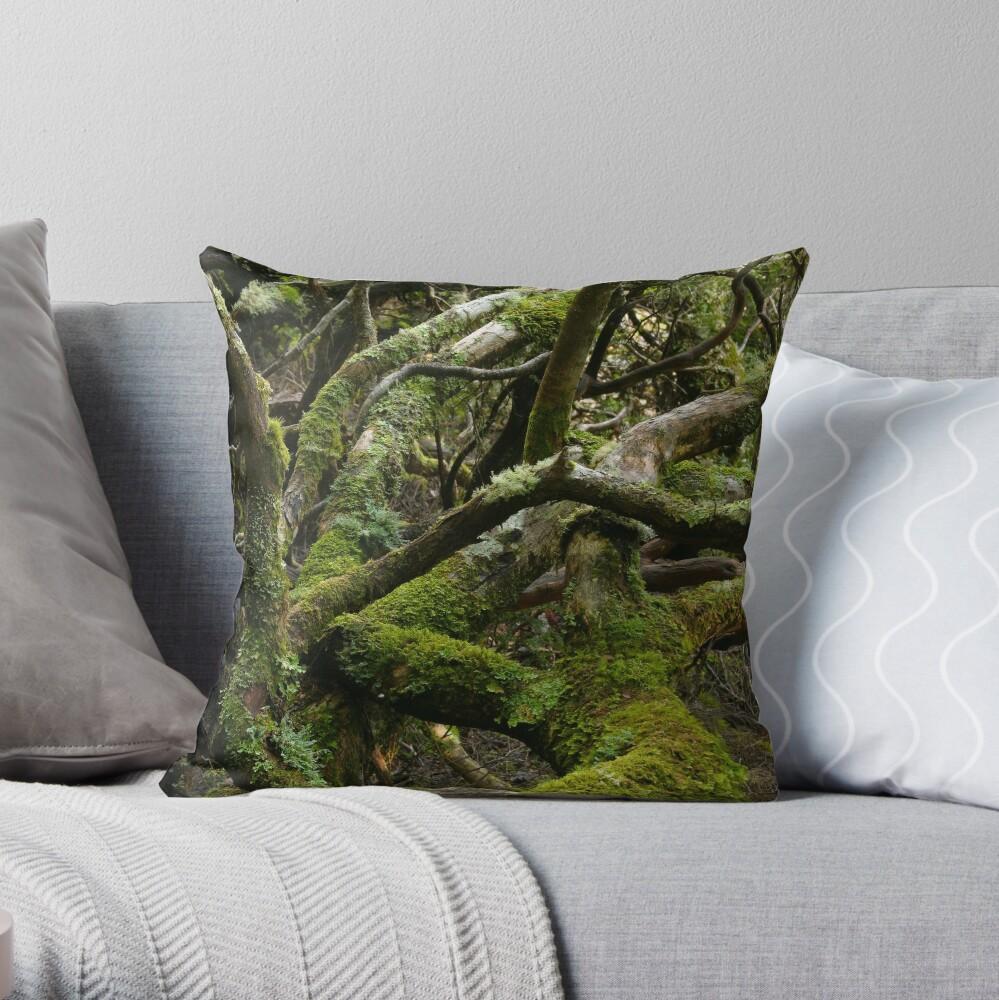 Forest jumble Throw Pillow