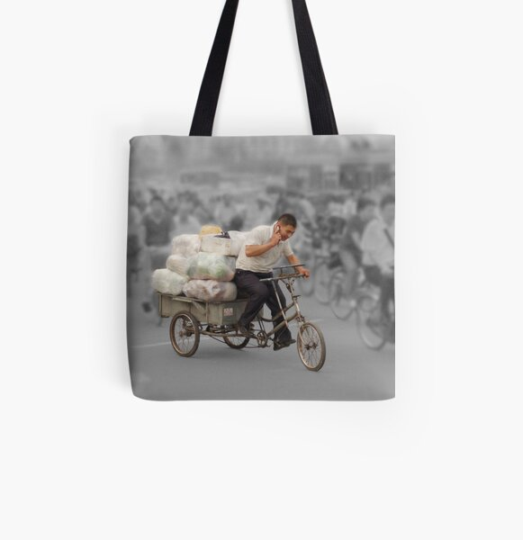 The delivery man All Over Print Tote Bag