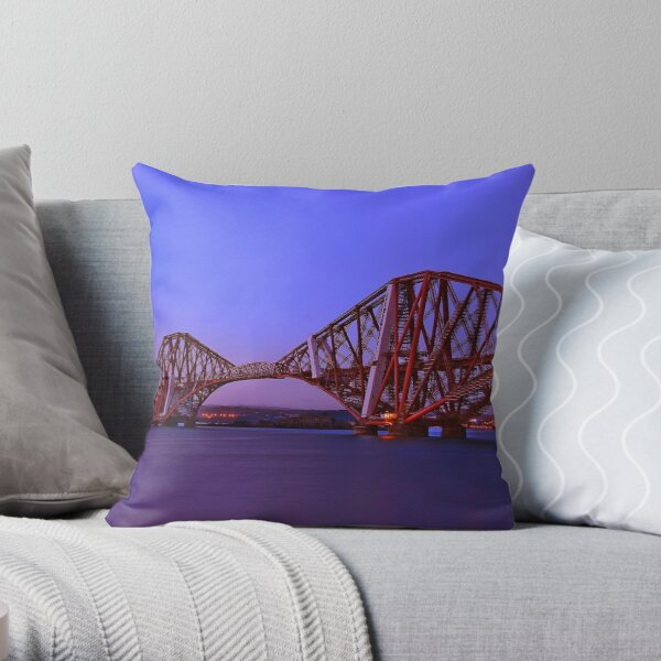 Forth Bridge-Queensferry-Scotland Throw Pillow