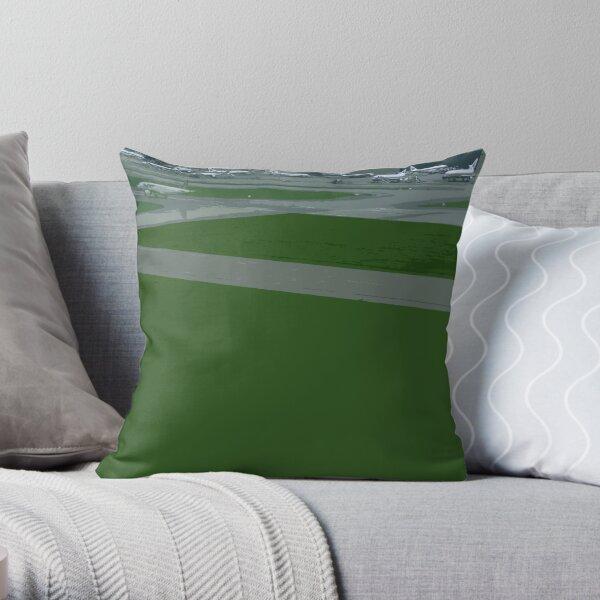 airport green Throw Pillow
