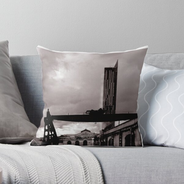 Over Looked by the Hilton Throw Pillow