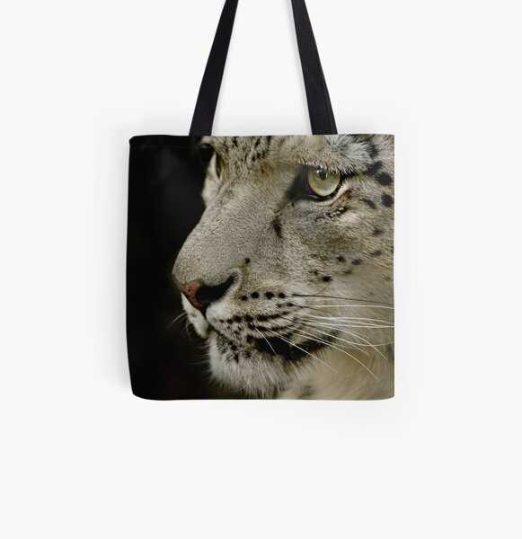 Snow Leopard All Over Print Tote Bag