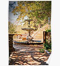 Turtle Fountain. Cliveden Estate, Buckinghamshire, UK. Poster